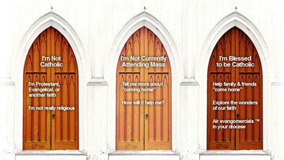 Catholics Come Home Doors Photo